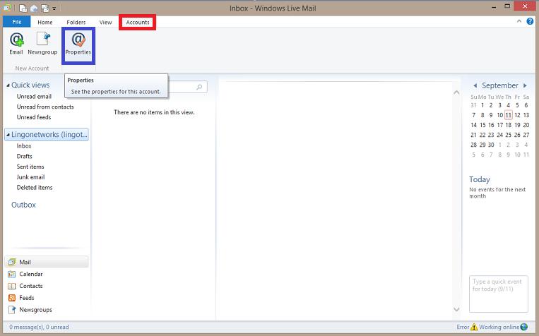 Lingo Networks email setup for Livemail.