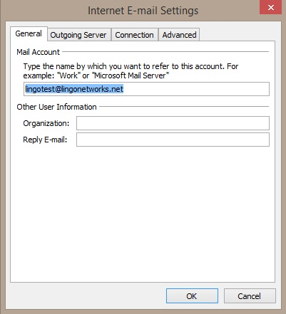 Lingo Networks email setup guide for Outlook 2007.