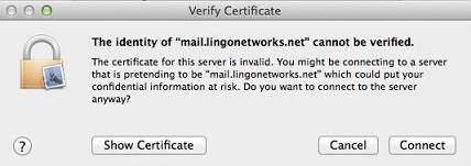 Lingo Networks email setup guide for Apple Mail.