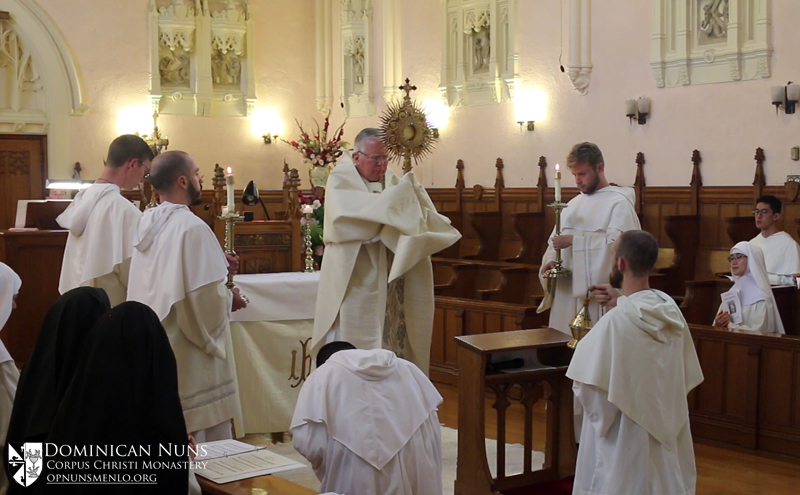 Benediction in the nuns' choir.