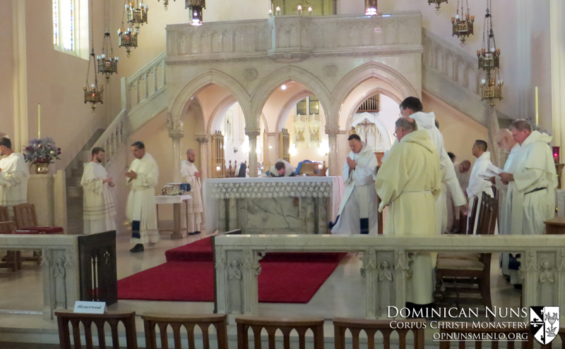 Father Thomas Aquinas Pickett's Mass of Thanksgiving.