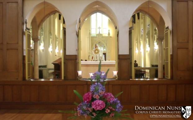 Benediction following Vespers (Evening Prayer).