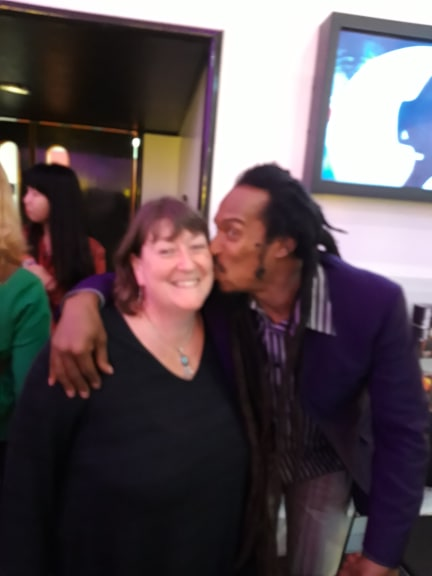 Me and Benjamin Zephaniah. I know the picture is blurry, but I had to share this one!