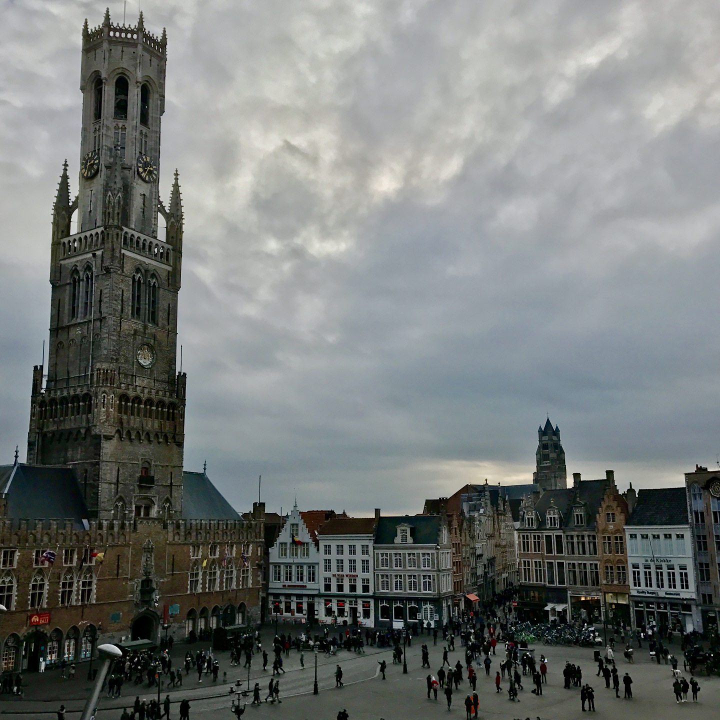 Market Square and the belfry of Bruges