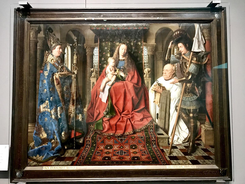 The Virgin and Child with Canon van der Paele, Jan van Eyck