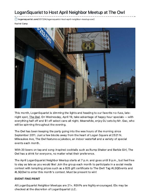 LoganSquarist - Local event news