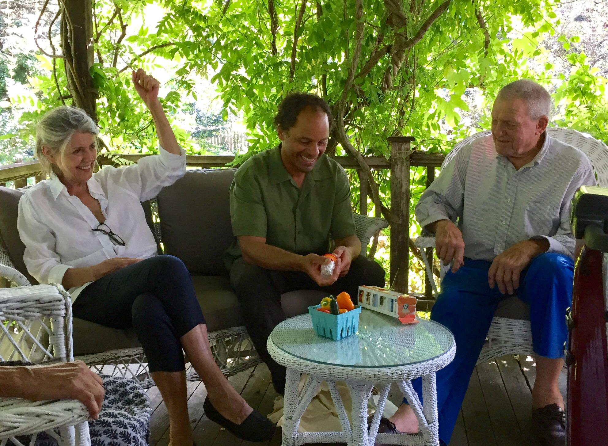 Paula Cooper, Jeremy Grosvenor, and Robert Grosvenor, Long Island, NY, summer 2017. Photo by Jay Gorney.