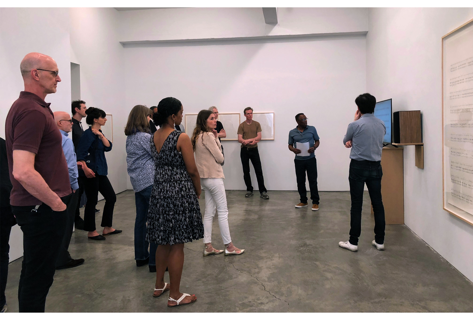 Selections of Paula Cooper Gallery staff over the years — PCG staff walkthrough with Charles Gaines, 2018