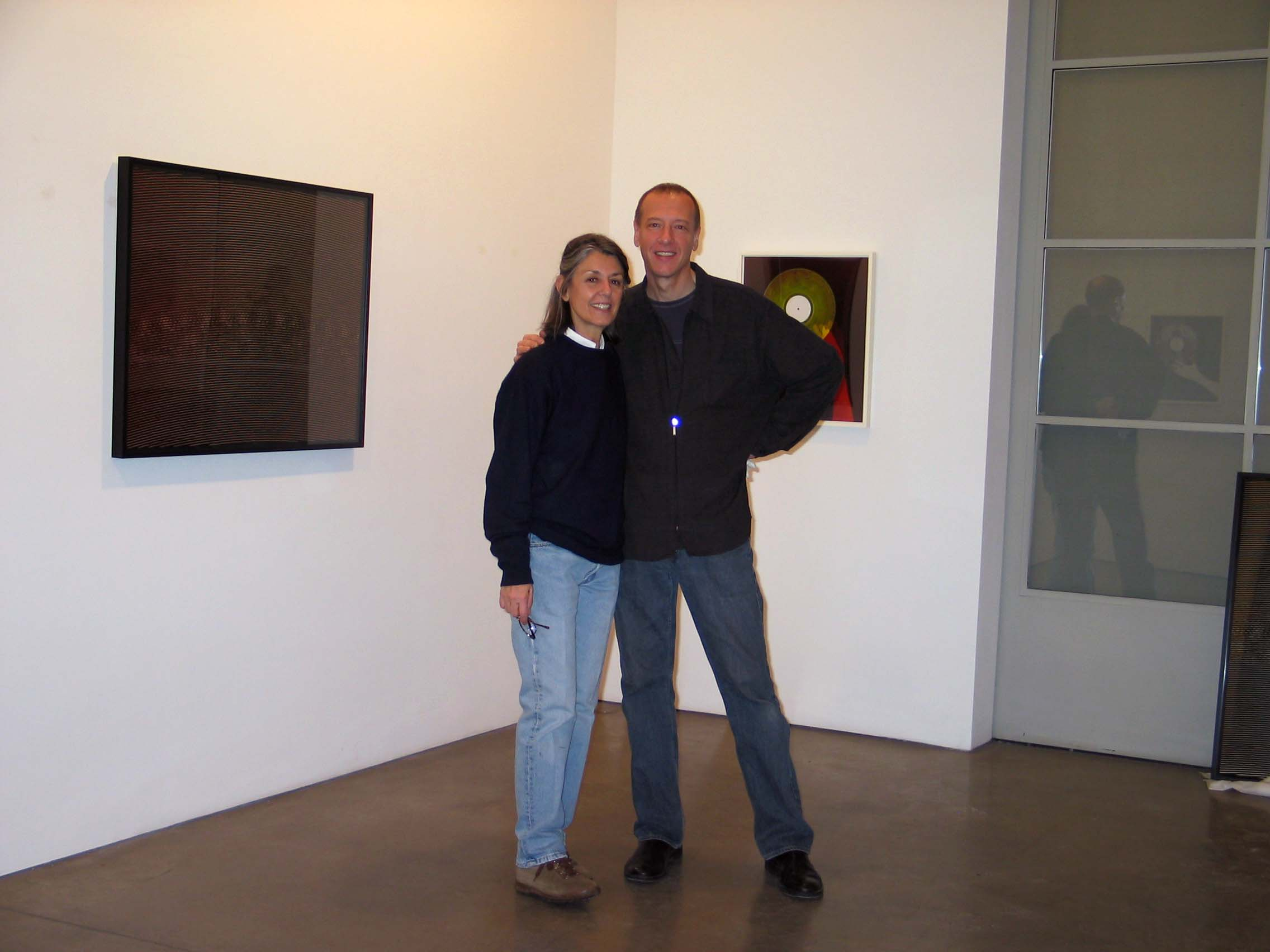 Paula Cooper and Christian Marclay, January 2005.