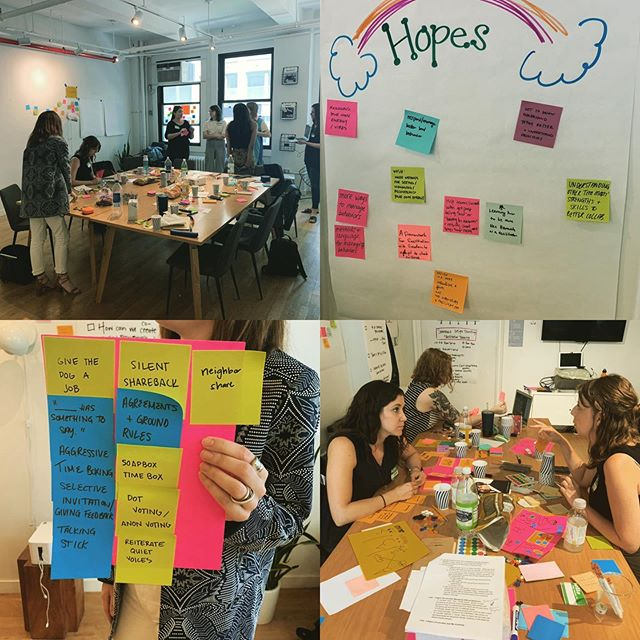 Today in the topics of moving groups forward - we tackled inclusive participation, synthesizing ideas on the fly, knowing our role and place, energizer activities, ideation activities and tools for democratizing power. So happy to co-design and share space with the brilliant minds at @shareholdco. @alliemahler @sarahjuddwelch enjoy the night!!