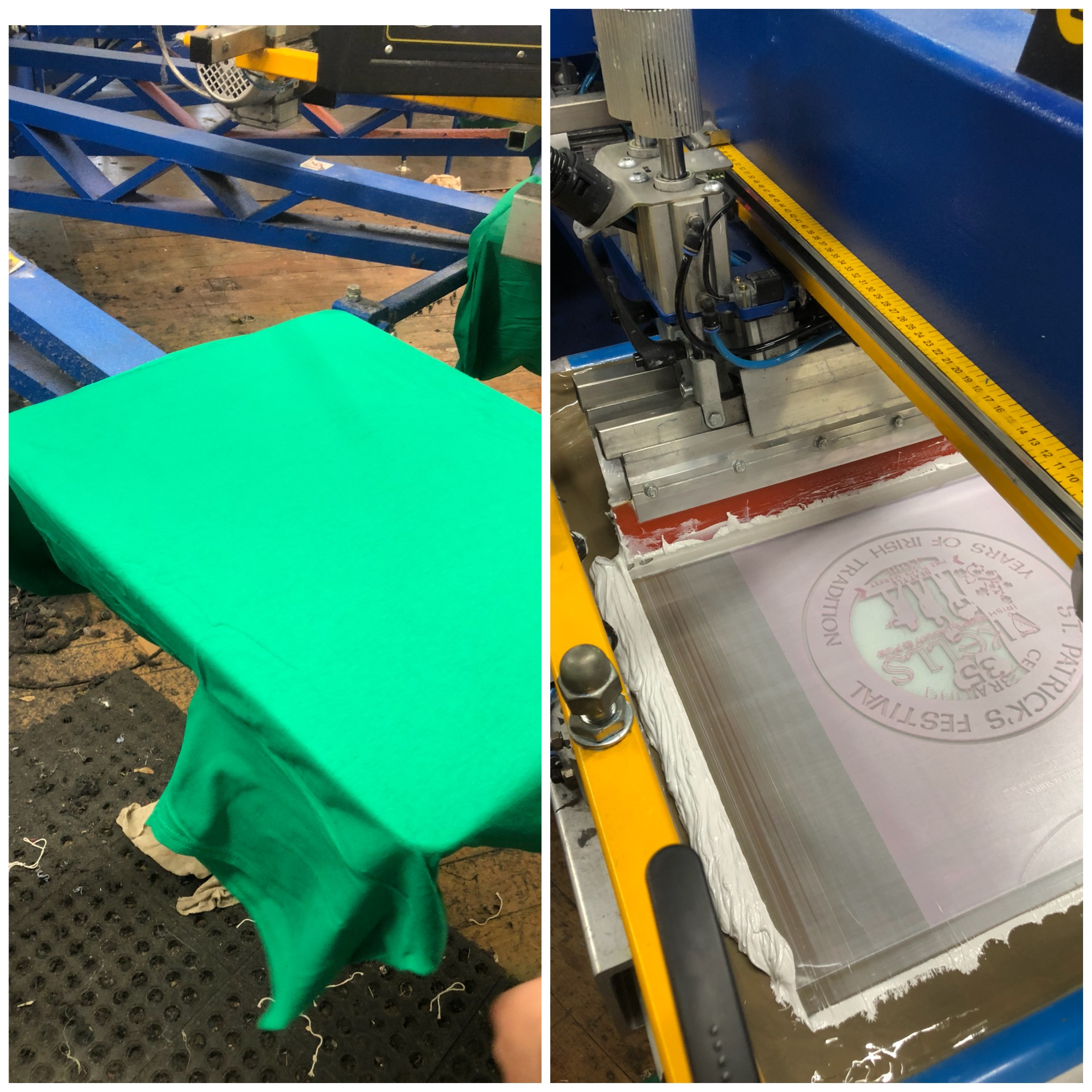 Screen Printing:   - Screen printing is the method in which ink is forced through the pores in a mesh screen directly on to the surface of a product by the wiping of a squeegee across the screen. This process is repeated for each of the colors in the design until the graphic is completed. This method is best for large orders as it is the quickest and generally the most cost effective method of printing. Orders with personalization (individual names and numbers) needs are not suitable for screen printing.Discharge screen printing services are also available. Please be sure to double check and ask if your product meets discharge printing criteria.