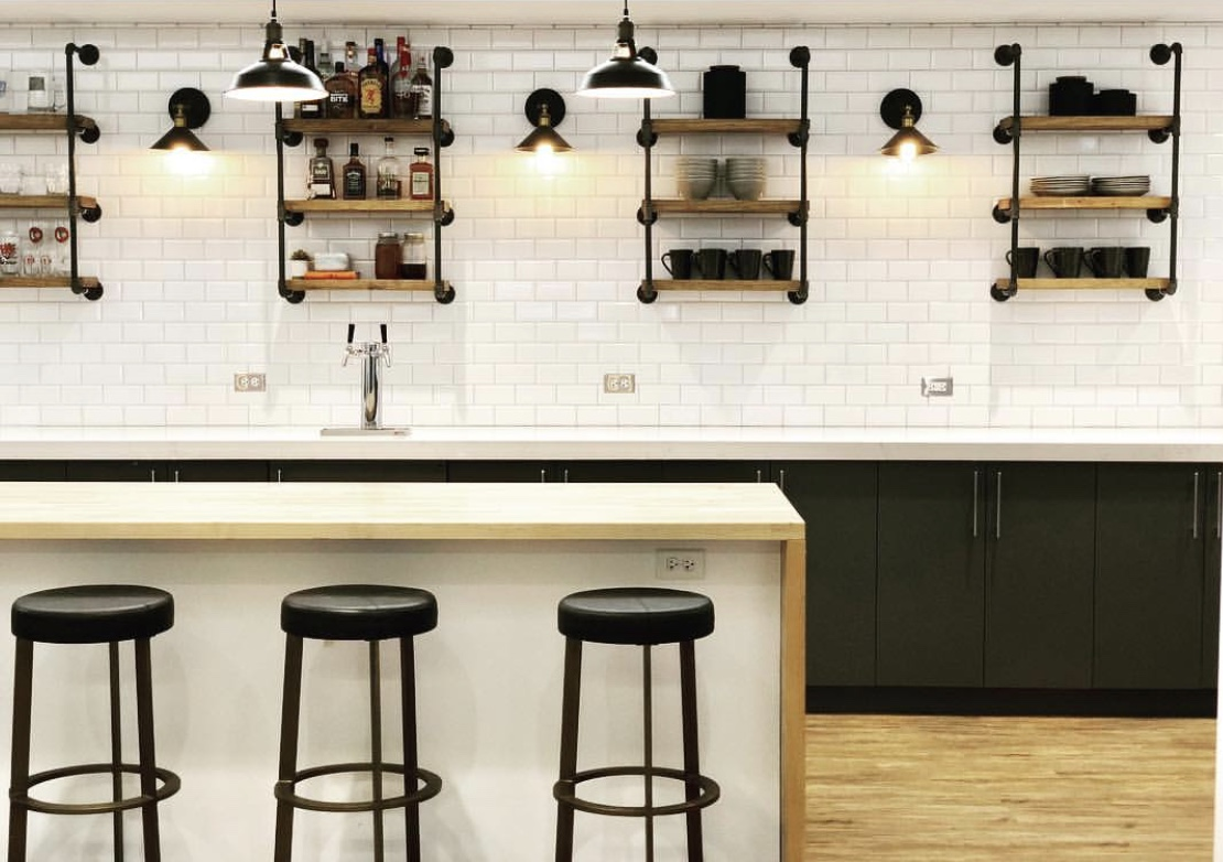 Black And White Commercial Kitchen North And Madison Chicago Interior Design And Styling