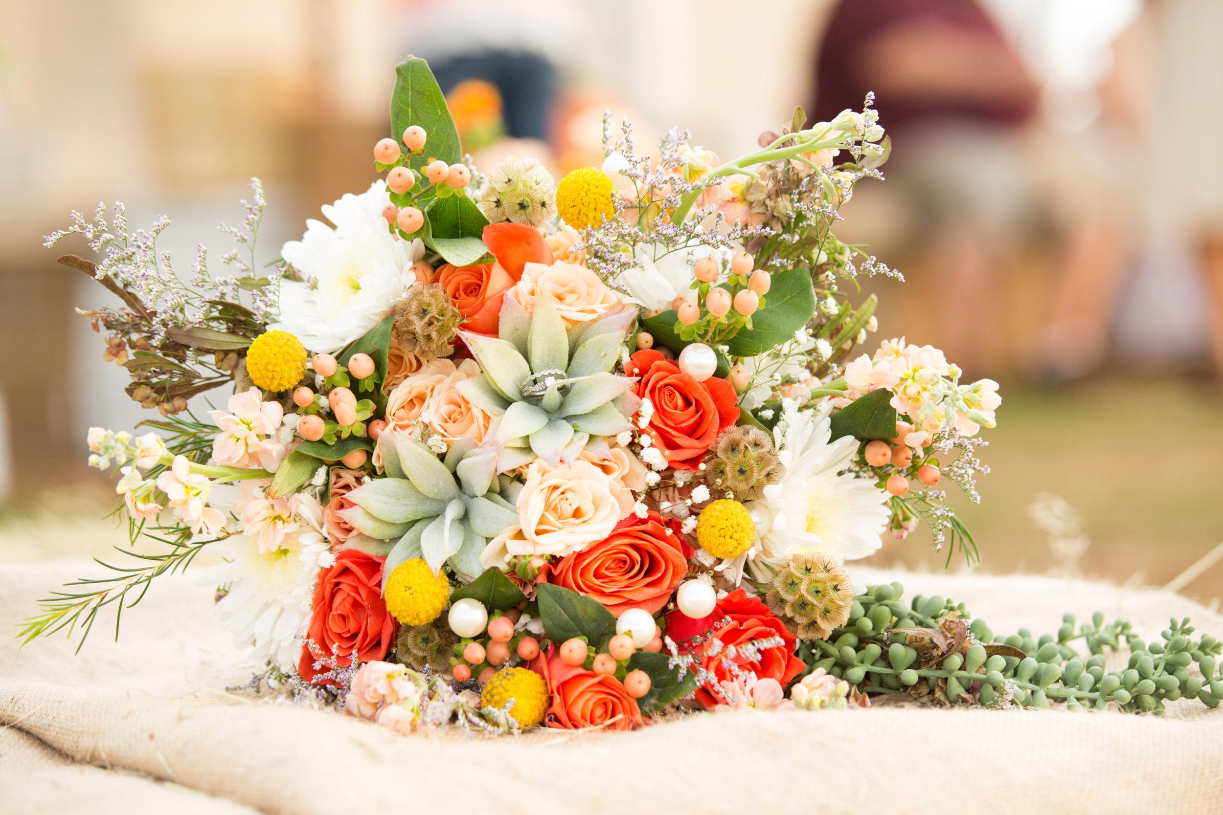 Flowers by Kimber Hendrickson; Photo by Katie Powers