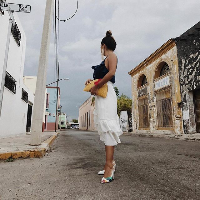 Babe @cyndiramirez stunning the streets with our tassel clutch ❤️❤️