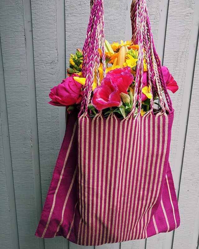seen at the farmers market 💕💐 our Chiapas tote @danaenegro