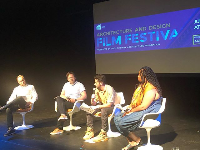 "ADFF: NOLA—Panel discussion with local voices post screening of ""Gaming The Real World"". Cool Tulip chairs courtesy of @thinkaos"