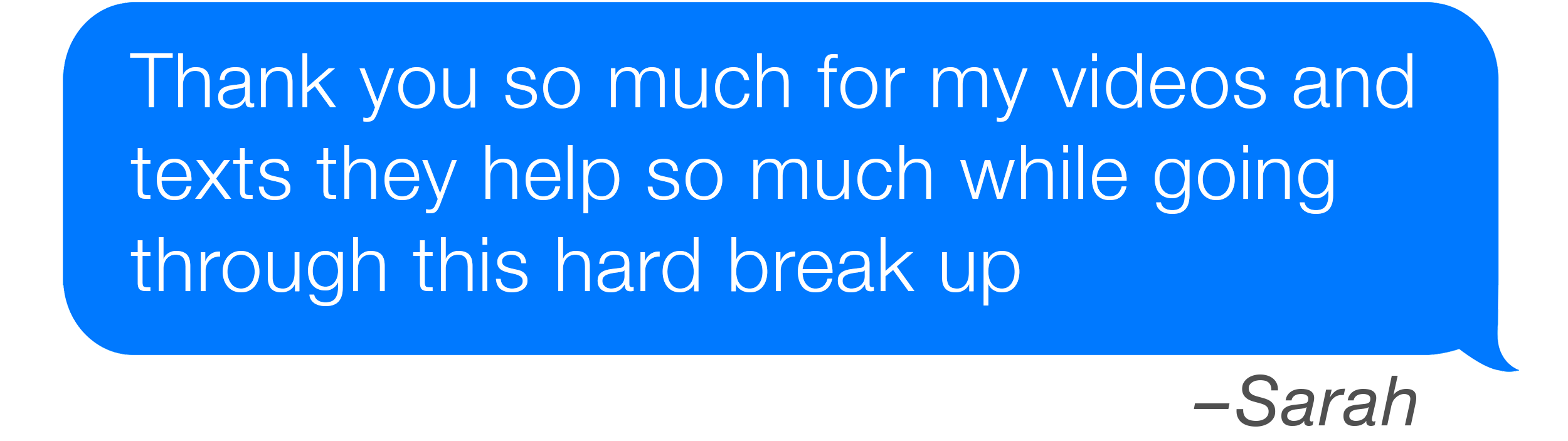 Going through a hard breakup
