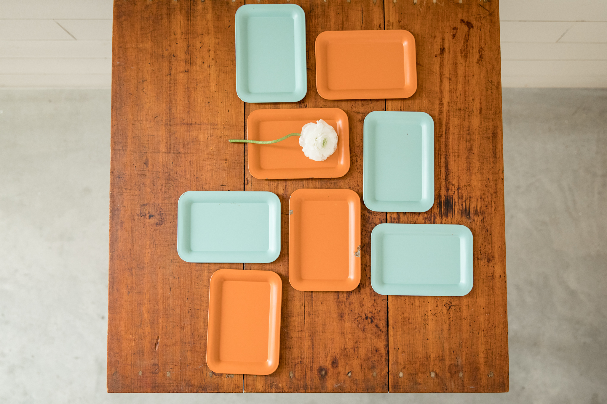 Small Coral + Baby Blue Trays
