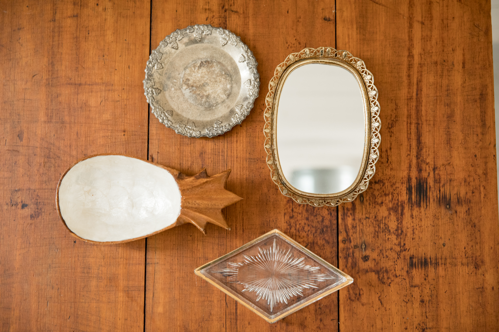 Assortment of Small Vintage Trays