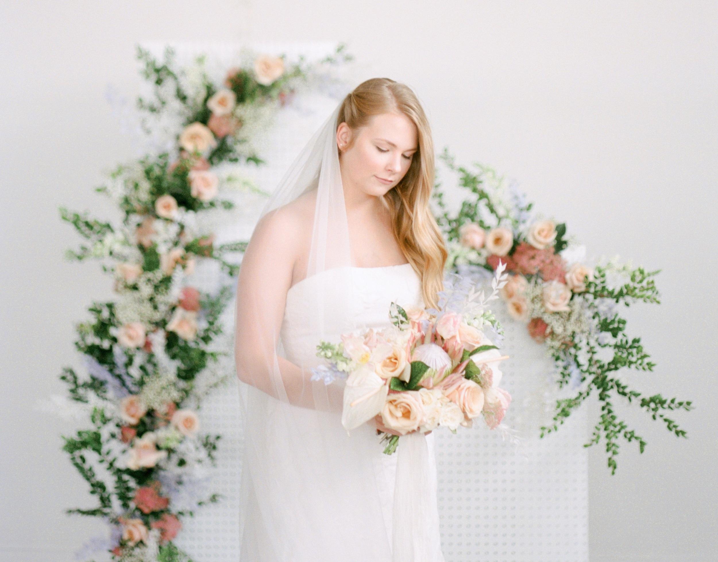 Organic Blush Wedding Flowers | Essen Events