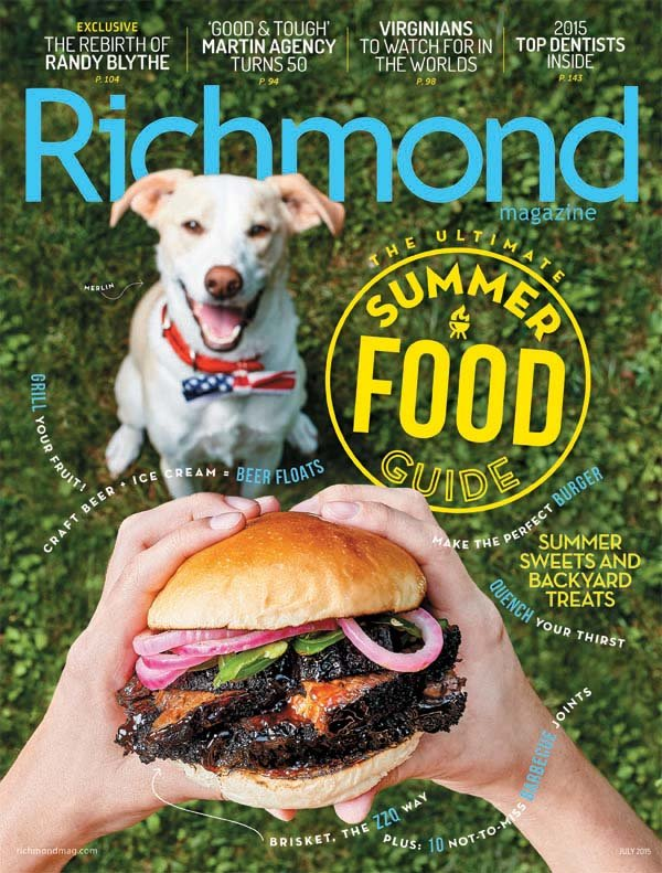 Cover of Richmond Magazine's 2015 Summer Food Guide
