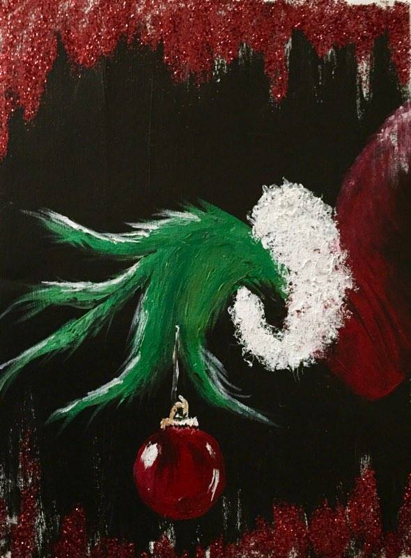 X-MAS IN JULY GRINCH HAND -