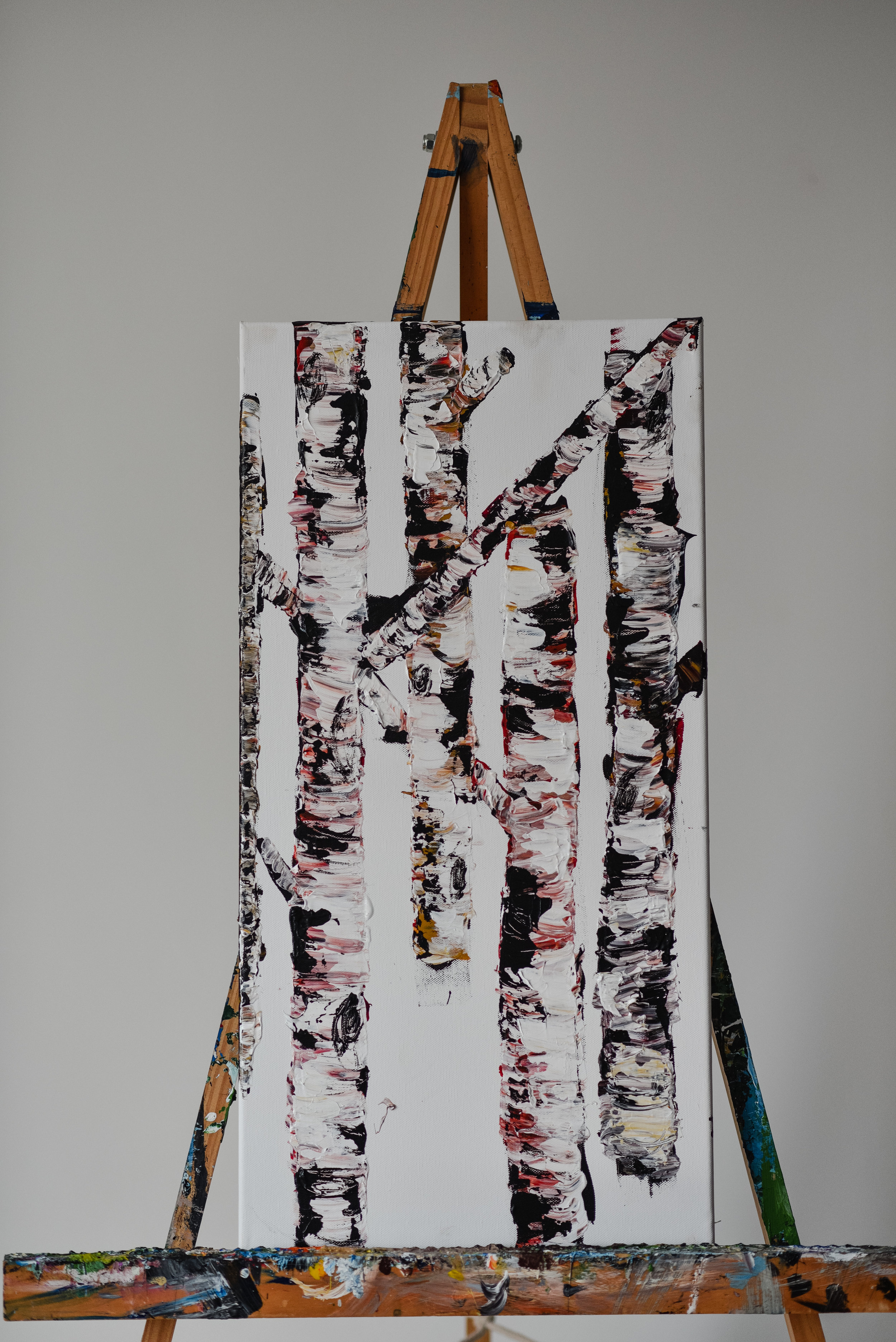 CONTEMPORARY BIRCH TREES -