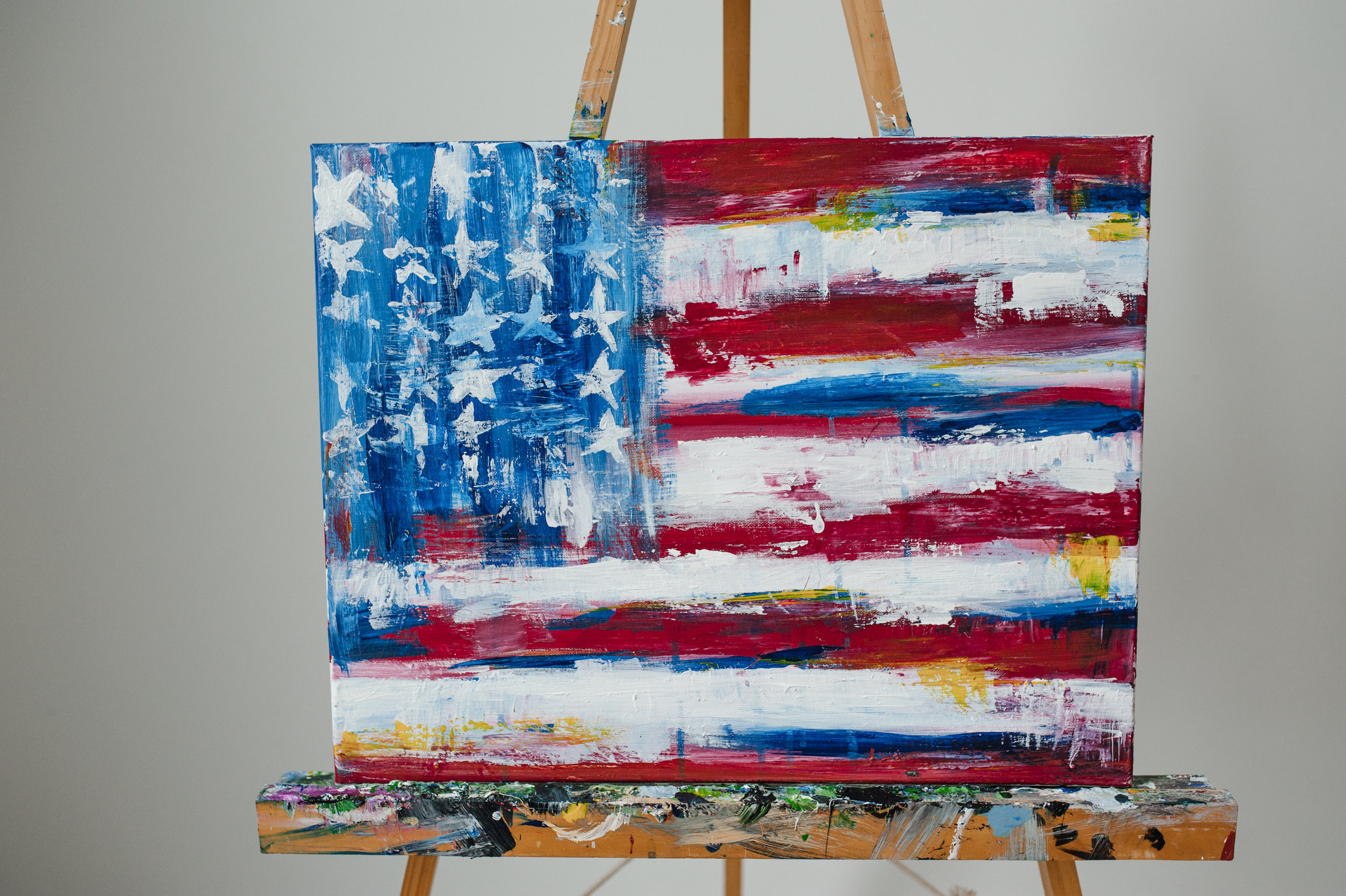 ABSTRACT AMERICAN FLAG -