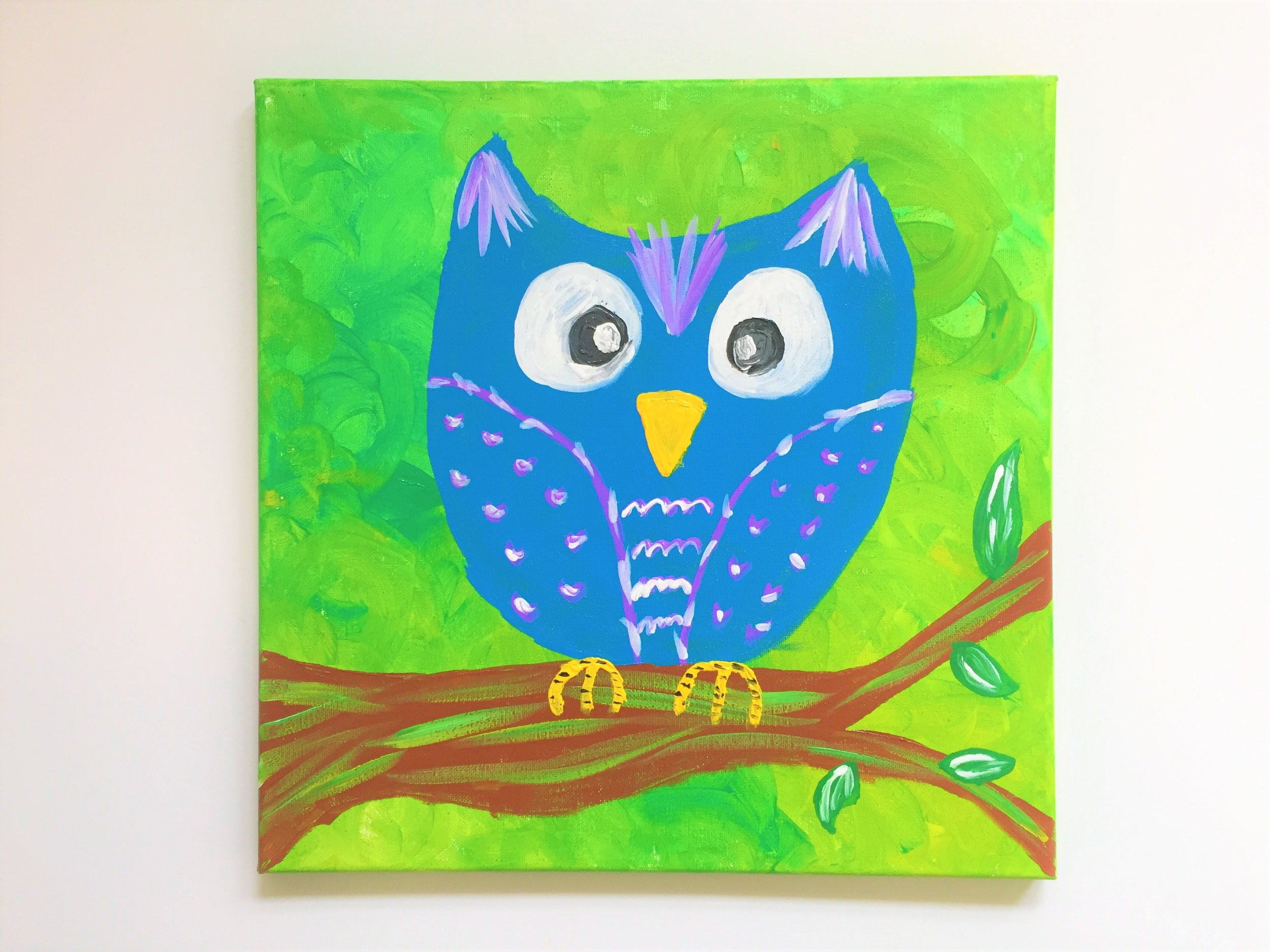 KIDS PAINTING CLASSES - WATERMELON 2-3 OWL 4-5