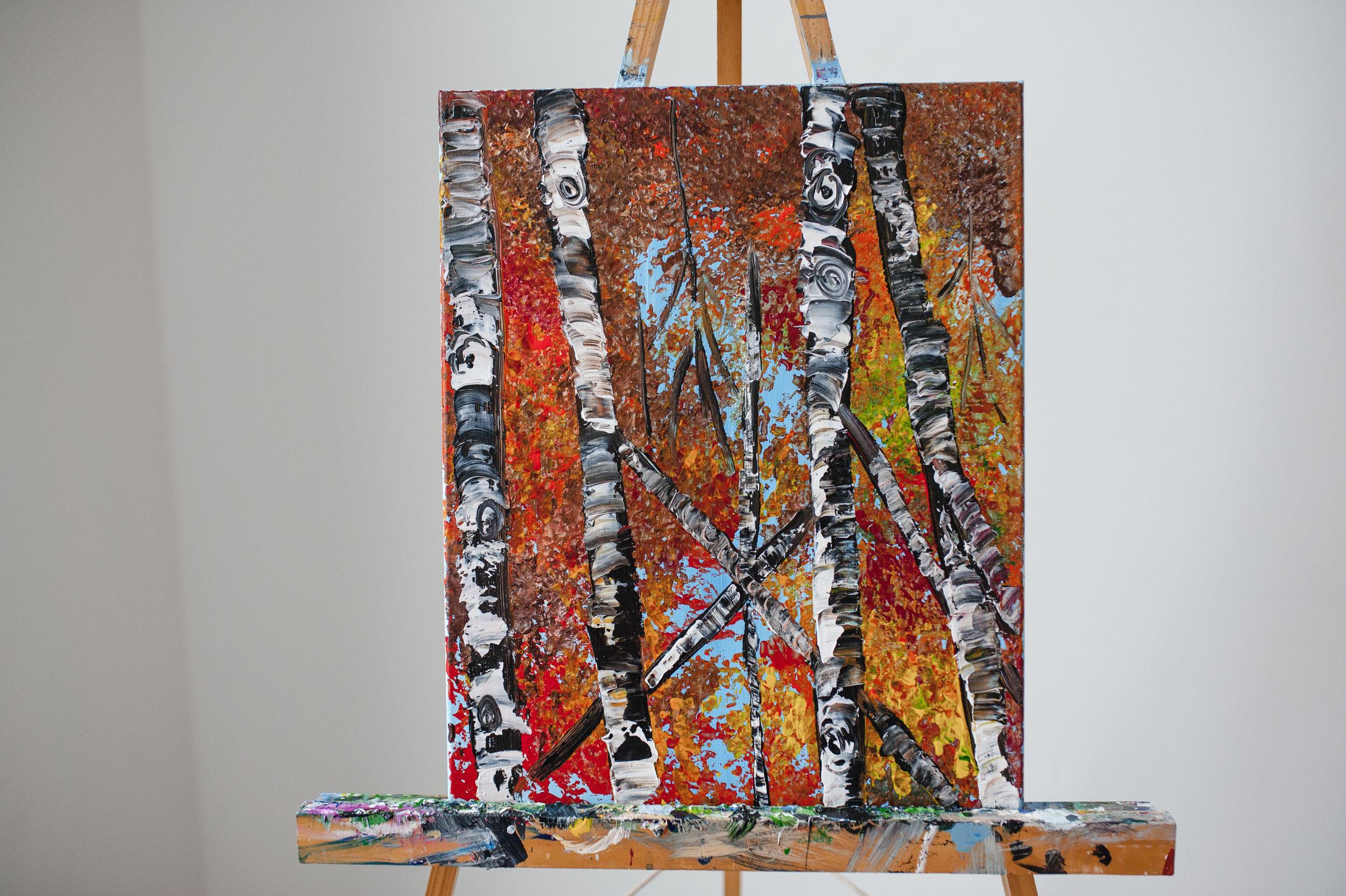 Birch Trees -