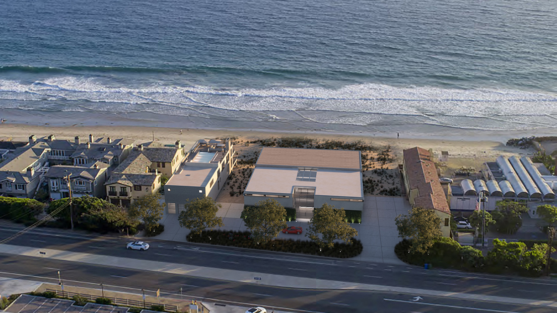 Malibu Broad Beach Homes Aerial