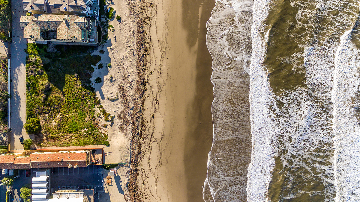 Malibu Broad Beach Lot Aerial
