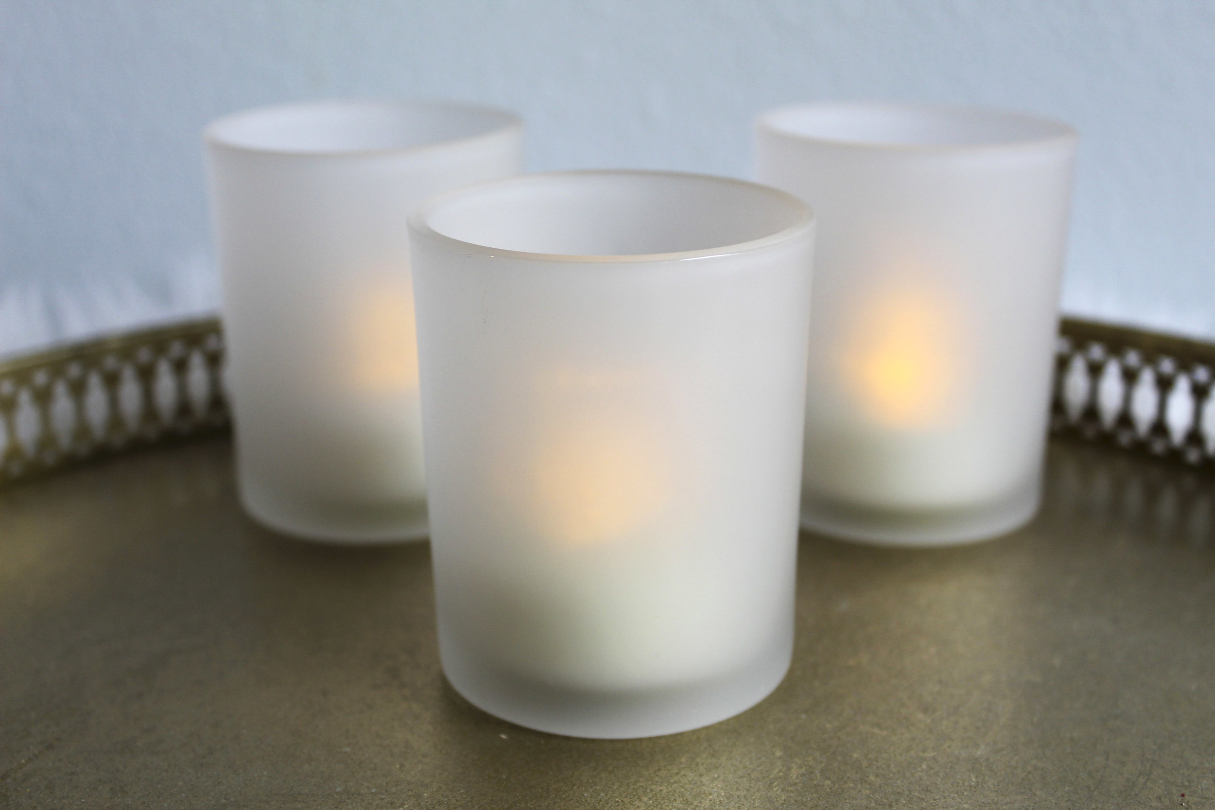 Frosted Votive - Candle Included