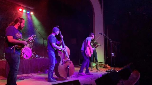 """From the vault: Earlier this year, we played @thedickenstavern.operahouse in Longmont, CO. Swipe 👈🏼 for the full song, """"Goodbye, Stranger"""". #woodshedwednesday"""