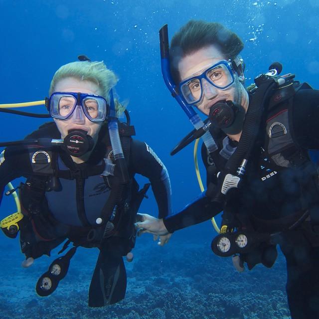 Diving in Maui, HI