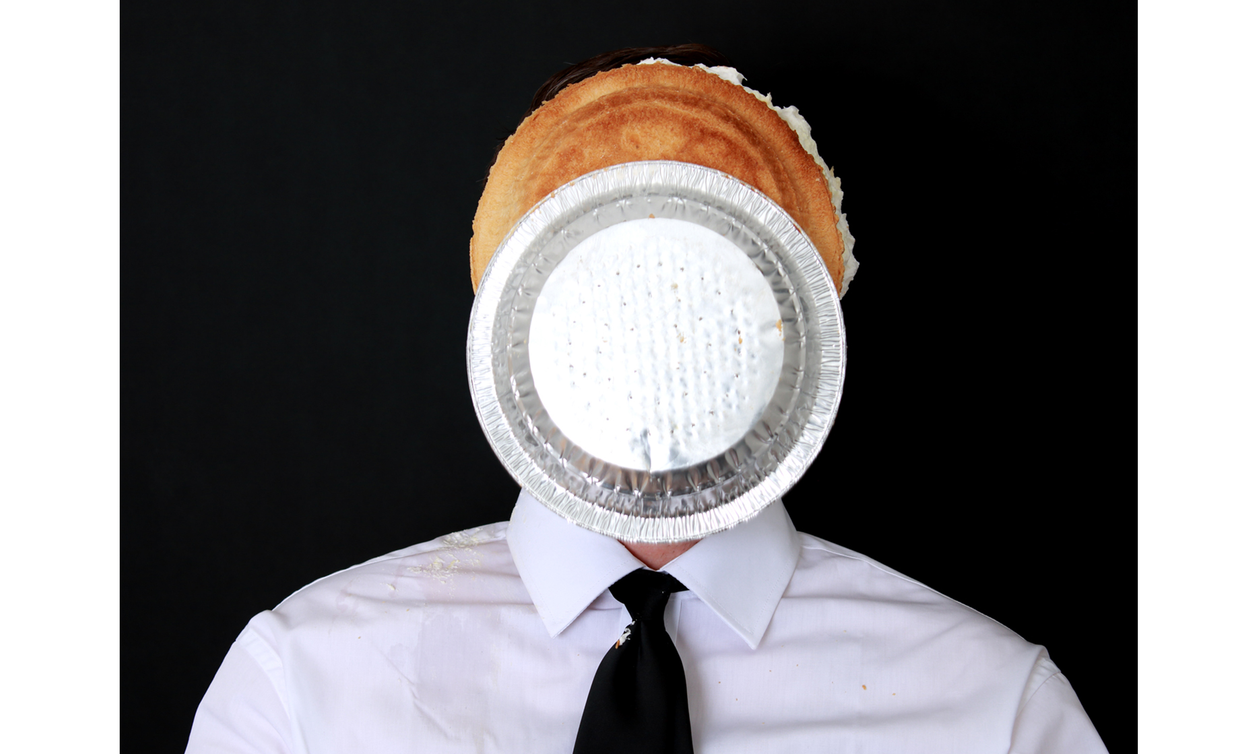 Untitled Self-Portrait with Banana Cream Pie 1  2016 Archival pigment print 36h x 48w in