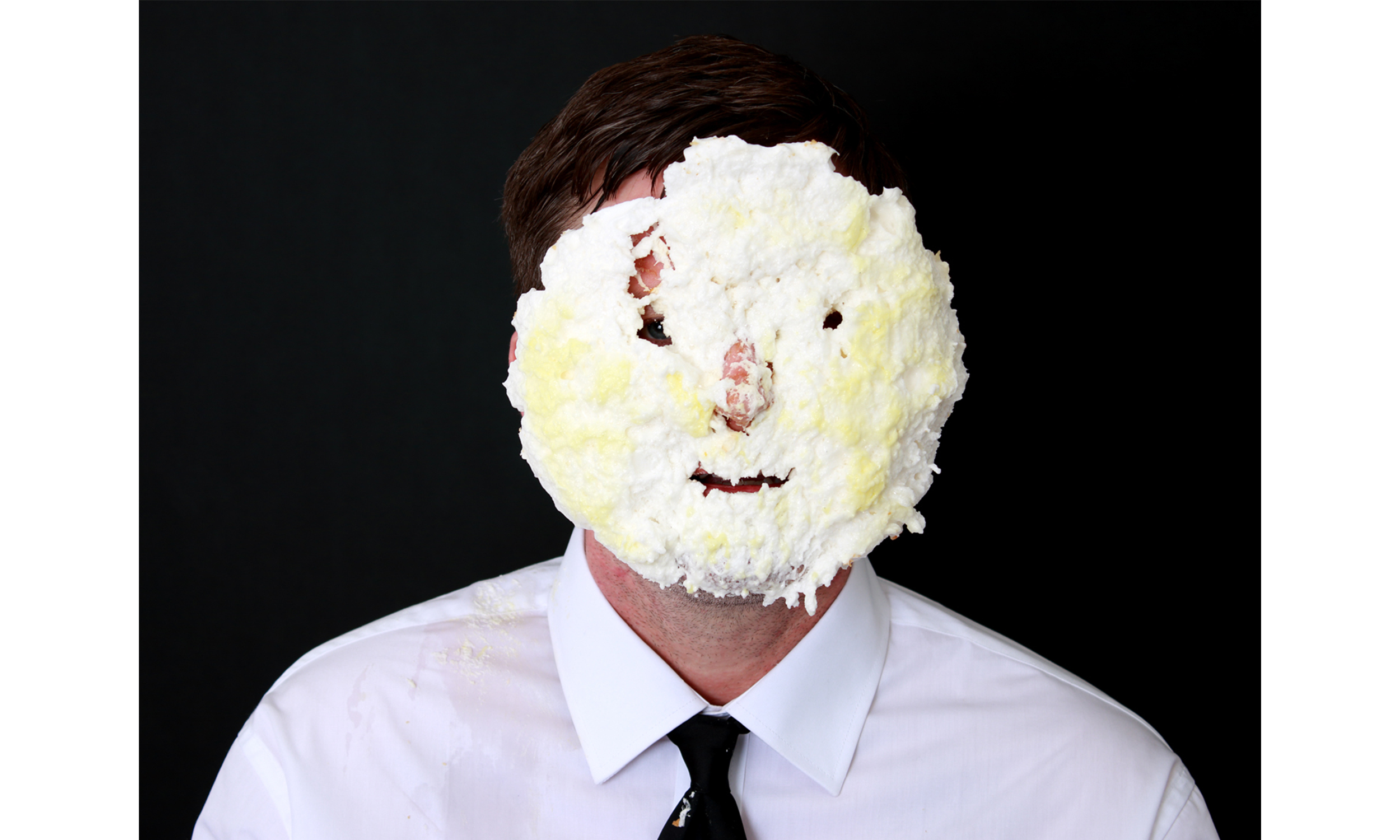 Untitled Self-Portrait with Banana Cream Pie 2  2016 Archival pigment print 36h x 48w in