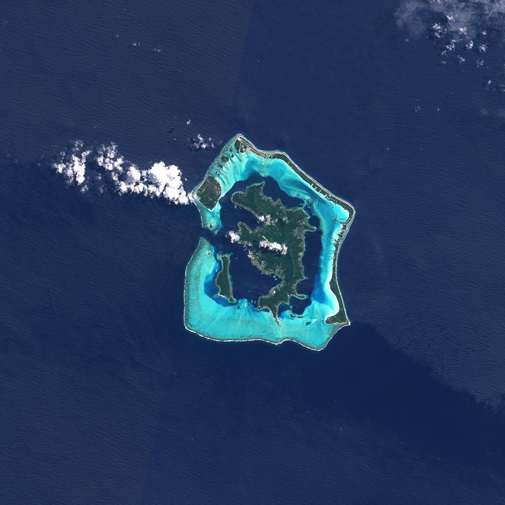 Sentinel-2, Bora Bora, French Polynesia
