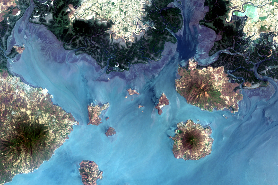 Sentinel-2, Gulf of Fonseca, Honduras