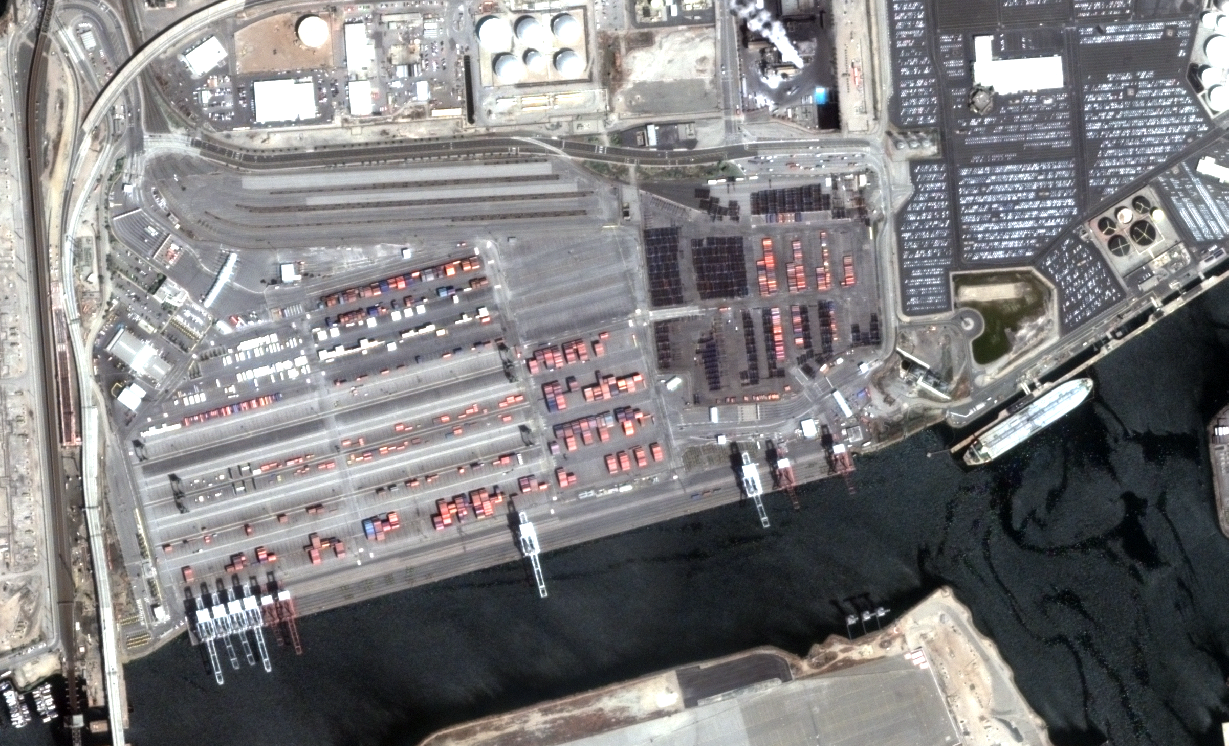 Deimos-2, Los Angeles port, USA