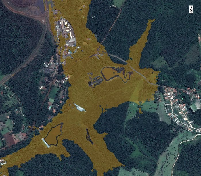 Brumadinho Brazil high resolution satellite image