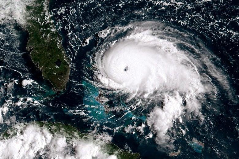 Hurricane Dorian // Image taken by NOAA GOES-East satellite on September 1, 2019