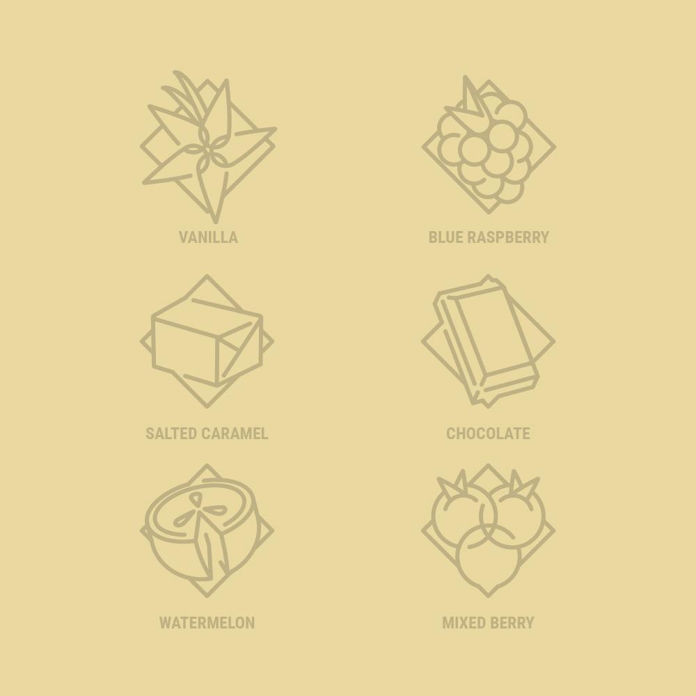 Geometric Flavor Icon Design