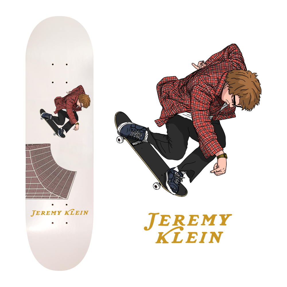jeremy klein 360 ollie skateboard design for jk industries