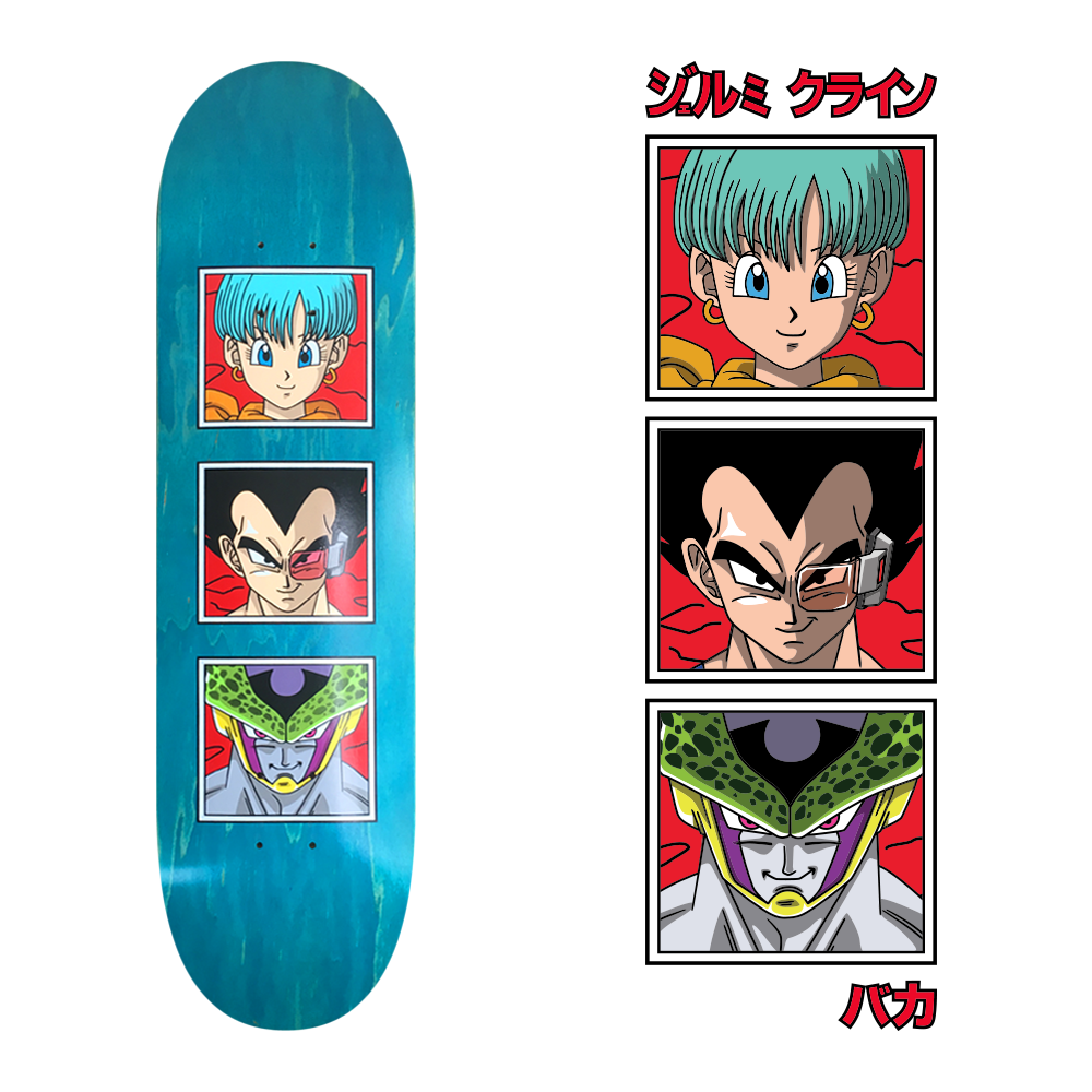 dbz 2 skateboard design for jk industries x baka