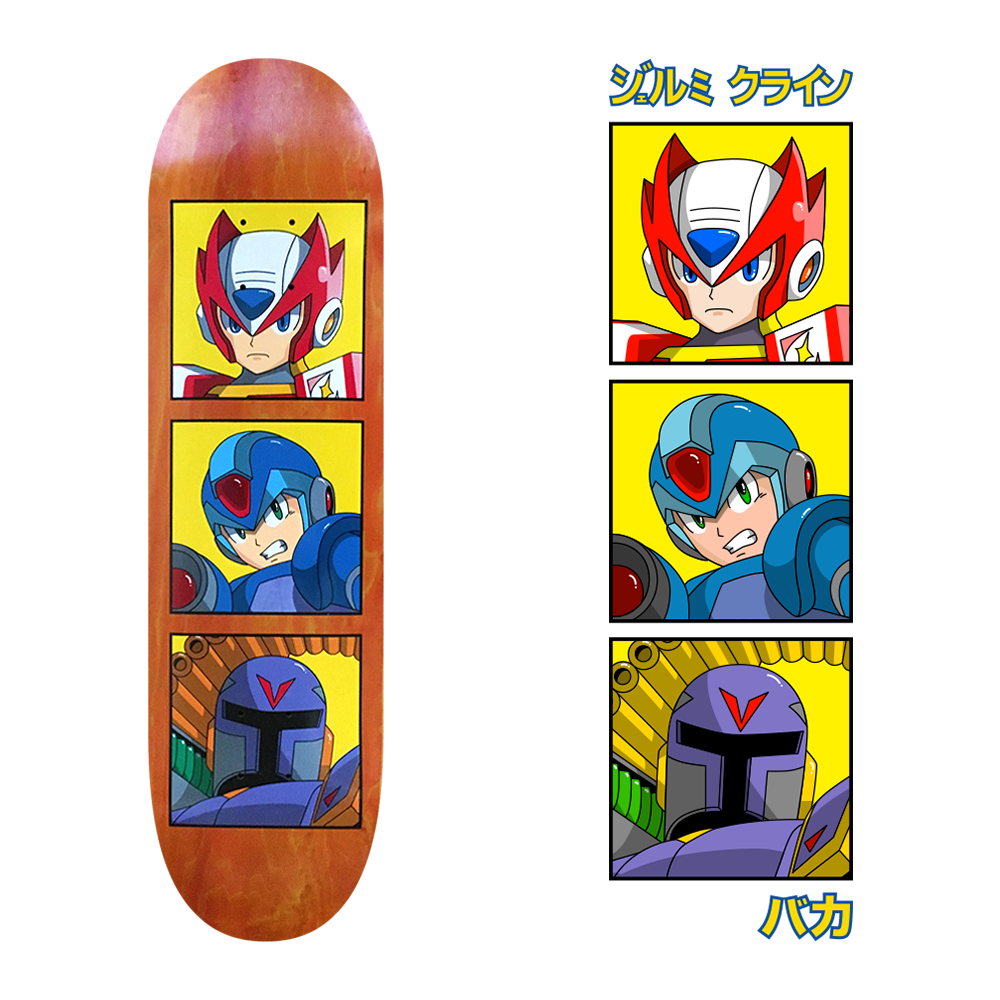 megaman skateboard design for jk industries x baka