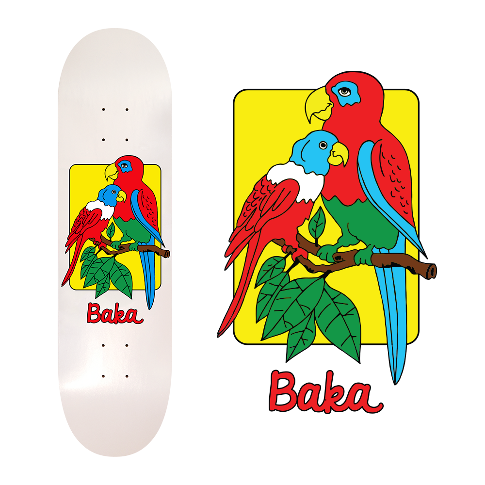 parrot skateboard design for baka
