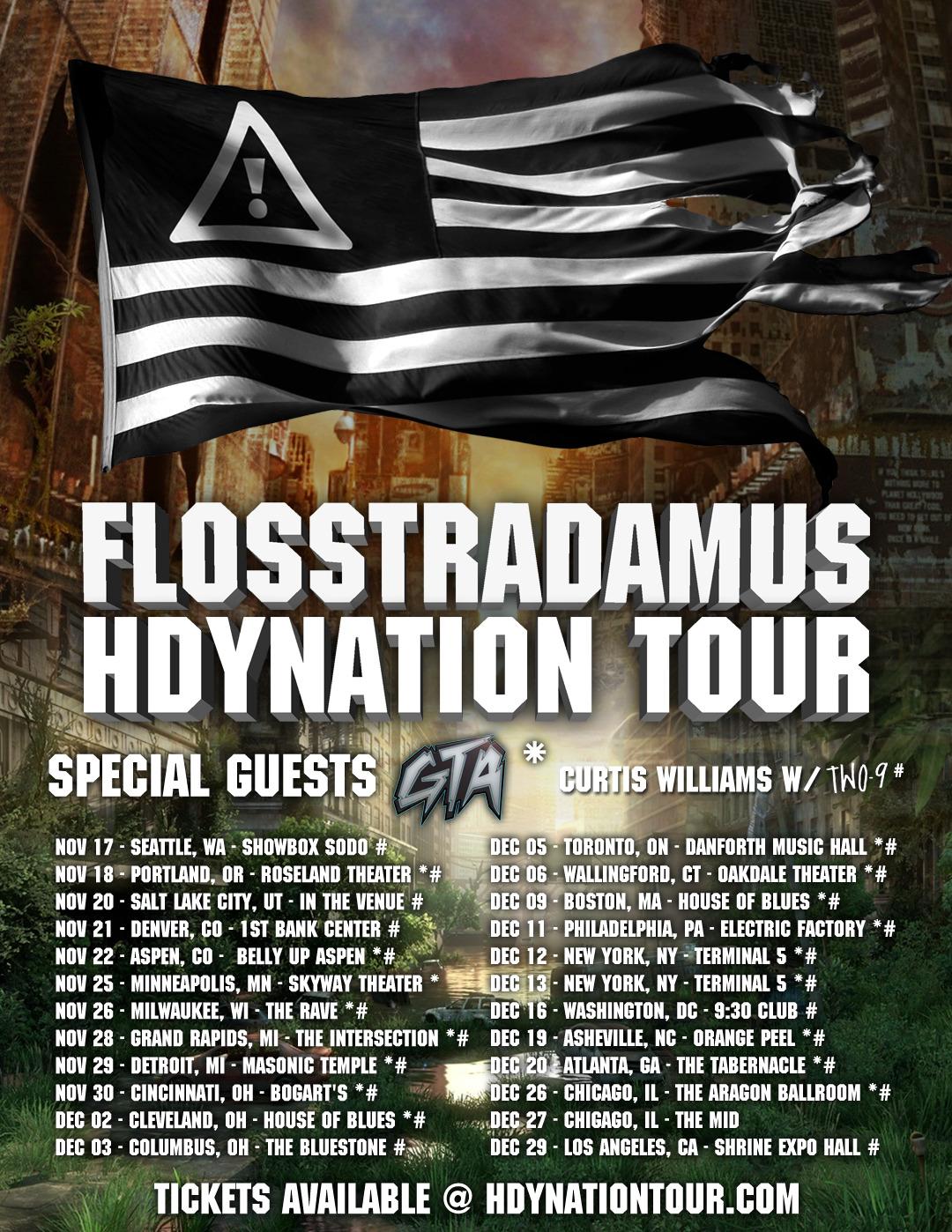 flyer design for flosstradamus