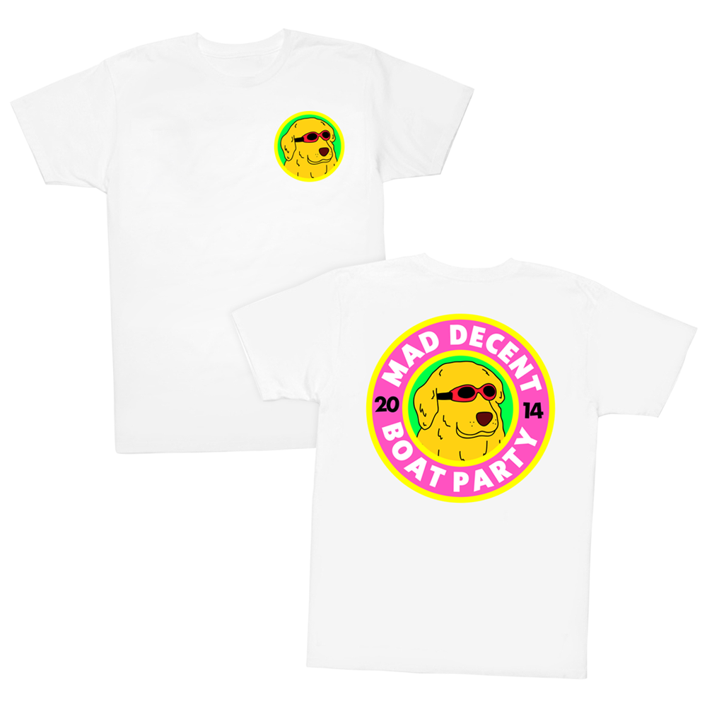 shirt design for mad decent boat party