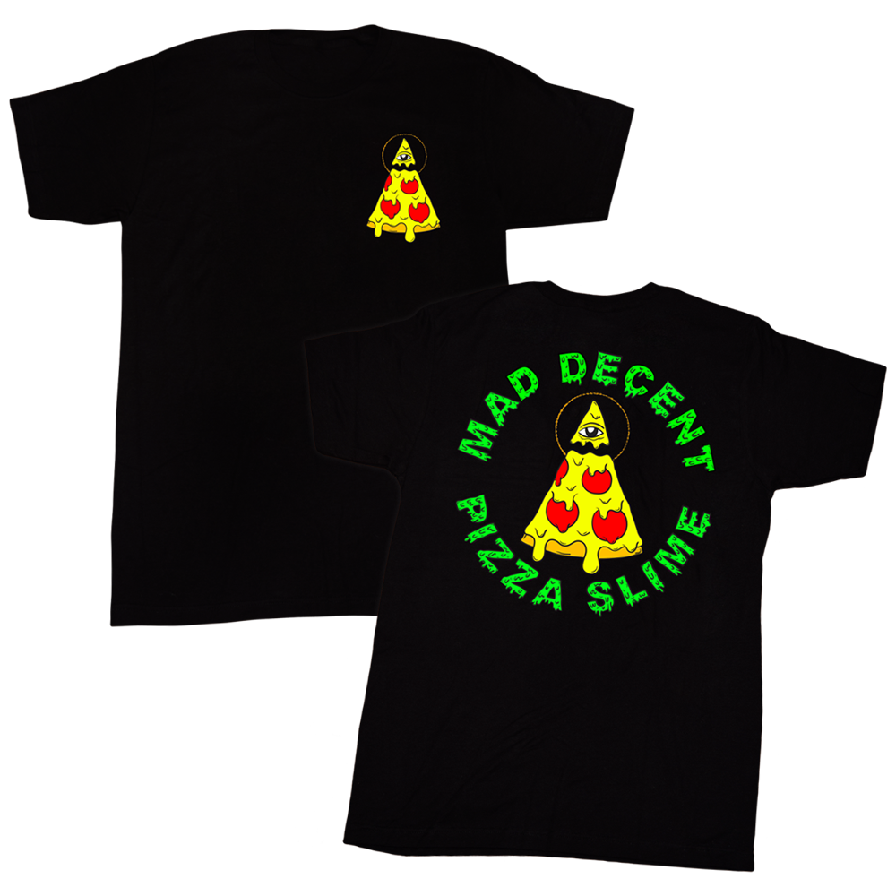 shirt design for mad decent x pizzaslime